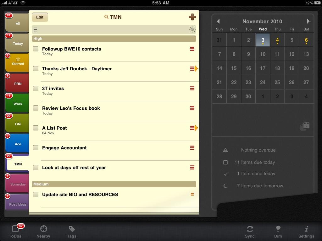 my favorite todo app for iphone ipad 2do time management ninja. Black Bedroom Furniture Sets. Home Design Ideas