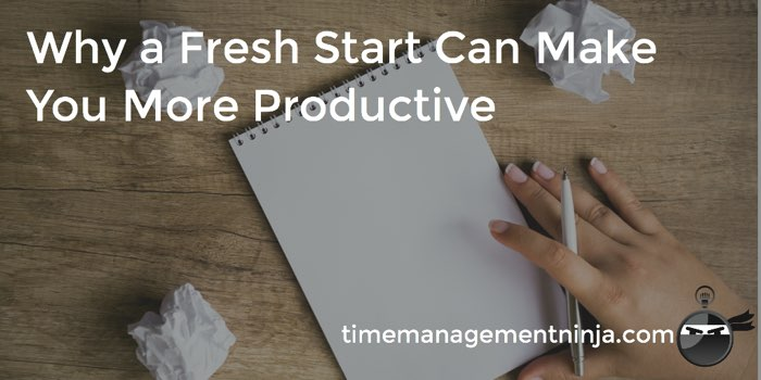 Fresh Start More Productive